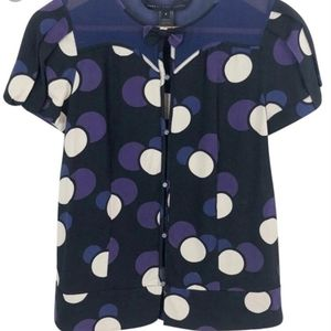 Marc By Marc Jacobs Silk Blouse Size 6